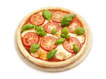 Tasty Pizza Caprese isolated Royalty Free Stock Image