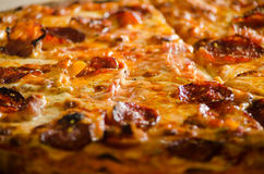 Tasty pizza close up Royalty Free Stock Images
