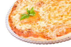 Tasty pizza of four cheeses Royalty Free Stock Image