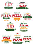Tasty pizza headers and signboards set Stock Photo