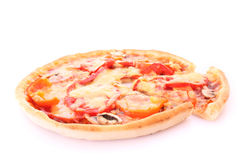 Tasty pizza isolated Royalty Free Stock Photography