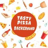 Tasty Pizza Making Seamless Pattern Royalty Free Stock Photo