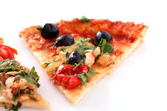 Tasty pizza with olives Stock Photos