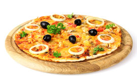 Tasty pizza with olives Royalty Free Stock Photos