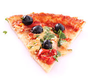 Tasty Pizza with olives in face form Royalty Free Stock Photos