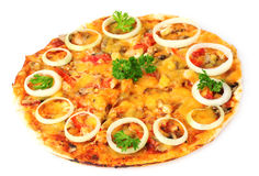 Tasty pizza with onions Stock Photo