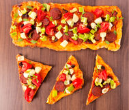 Tasty pizza sandwiches royalty free stock image