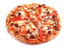 Tasty pizza on a white Royalty Free Stock Photography