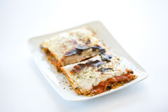 Tasty plate of vegetal lasagna Royalty Free Stock Photo