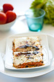 Tasty plate of vegetal lasagna Royalty Free Stock Photos