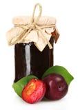 Tasty plum jam and plum Royalty Free Stock Photography