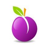 Tasty plum vector icon Stock Photo