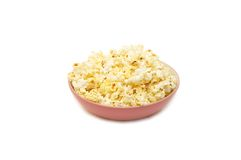 Tasty popcorn in a plate Stock Photo