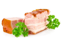 Tasty pork bacon and parsley Royalty Free Stock Photos