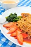 Tasty Pork Noodles Stock Images
