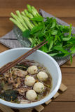 Tasty pork noodles Thailand Royalty Free Stock Image