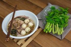 Tasty pork noodles Thailand Royalty Free Stock Images