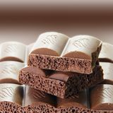 Tasty Porous Chocolate Bar Royalty Free Stock Photos