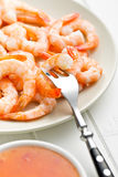 Tasty prawns on plate Royalty Free Stock Photos