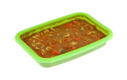 Tasty Prepared Meal For Toddlers. A quick healthy prepared beef, pasta and vegetable meal for toddlers Stock Photos