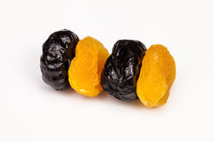 Tasty prunes and dried apricots Royalty Free Stock Image