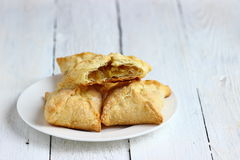 Tasty puff pastry with apple Stock Photo