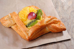 Tasty puff pastry with berries Royalty Free Stock Images