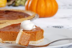 Tasty pumpkin pie Stock Photography