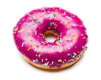 Tasty purple donut Stock Photo