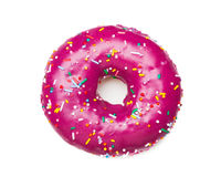 Tasty purple donut Royalty Free Stock Photos