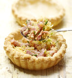 Tasty quiche beeing prepared for dinner Royalty Free Stock Photo