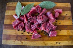 Tasty raw  juicy meat Royalty Free Stock Image