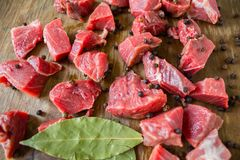 Tasty raw  juicy meat Royalty Free Stock Images