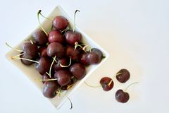 Tasty red cherries Royalty Free Stock Image