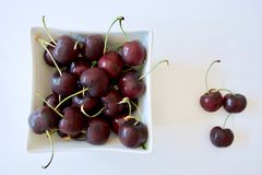 Tasty red cherries Stock Images