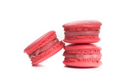 Tasty red macaroon isolate on with background Stock Photo