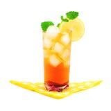 Tasty and refreshing ice tea. Tasty, refreshing ice tea, with lemon. White background Stock Photo