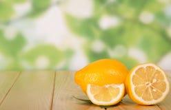 Tasty ripe lemons Stock Photography