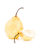 Tasty ripe yellow pears. Tasty ripe yellow isolated pears Royalty Free Stock Image