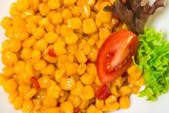 Tasty roasted corn with paprika. Stock Photo