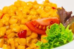 Tasty roasted corn with paprika. Stock Image