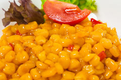 Tasty roasted corn with paprika. Royalty Free Stock Image