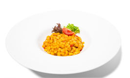 Tasty roasted corn with paprika. Royalty Free Stock Photos