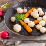 Tasty roasted radishes. A fresh and tasty roasted radishes Stock Image