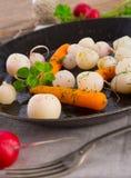 Tasty roasted radishes Stock Images