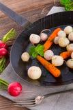 Tasty roasted radishes. A fresh and tasty roasted radishes Royalty Free Stock Images