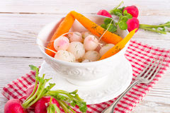 Tasty roasted radishes. A fresh and tasty roasted radishes Stock Photos
