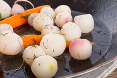 Tasty roasted radishes. A fresh and tasty roasted radishes Stock Photo