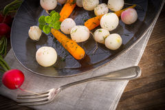 Tasty roasted radishes Royalty Free Stock Photo