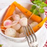Tasty roasted radishes. A fresh and tasty roasted radishes Royalty Free Stock Image